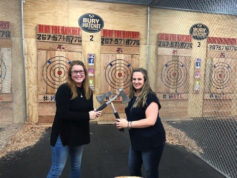 Meghan and Liz at Bury the Hatchet in Bensalem