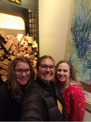 Meghan, Kristen Verdoia of Adler Weiner, and Liz at Husk