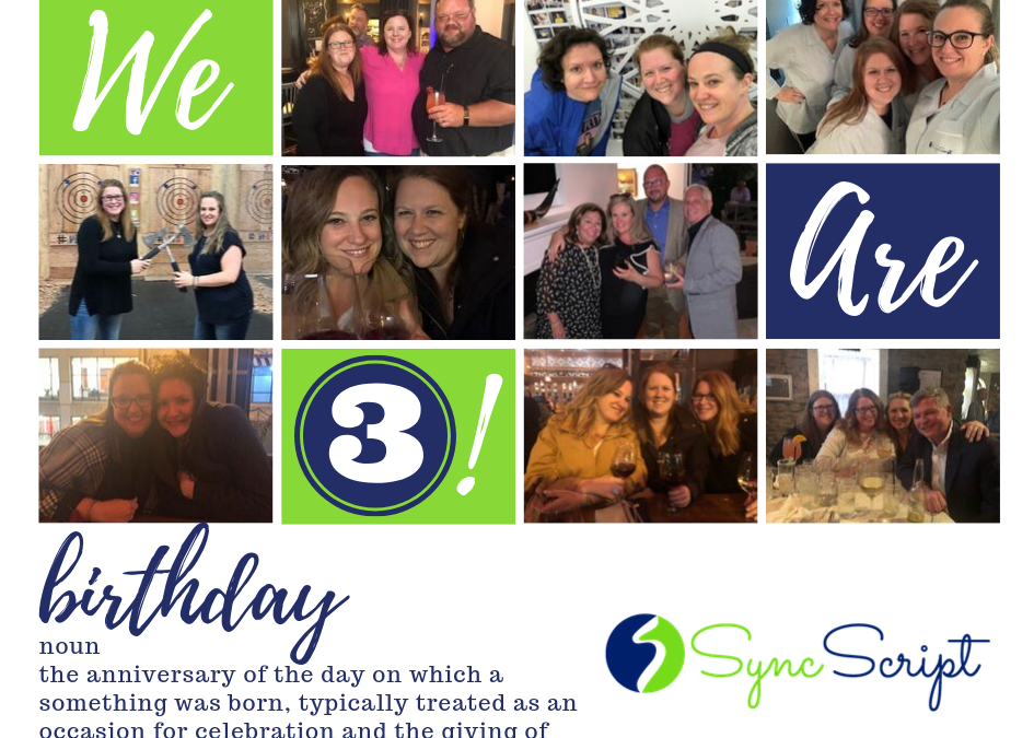 SyncScript Celebrates Three Years!