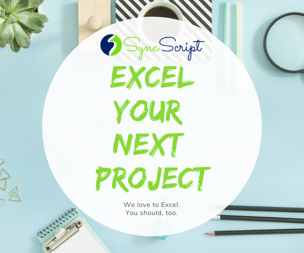 Top 🖐 Reasons To Excel Your Next Project